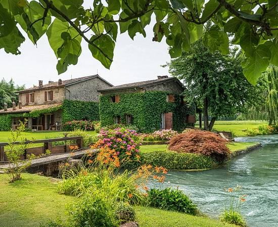 Romantisches Hideaway am idyllischen Fluss zwischen Gardasee und Mantua